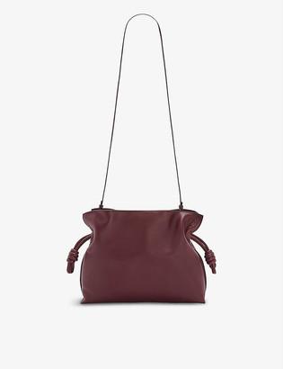 Loewe Flamenco drawstring leather clutch bag