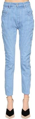 Thierry Mugler Patchwork Cotton Denim Jeans