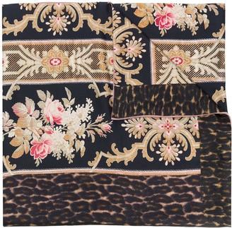 Pierre Louis Mascia Mix-Print Silk Scarf
