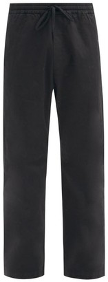 Barena Bativoga Drawstring-waist Cotton-blend Trousers - Black