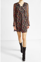 Anna Sui Printed Silk Dress with Embroidery