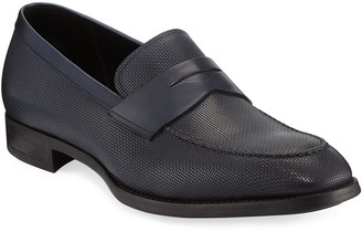 Giorgio Armani Men's Leather Penny Loafers