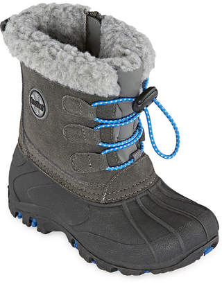 totes Jack Waterproof Fleece Lined Insulated Zip Winter Boots Toddler Boys