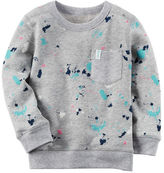 Carter's French Terry Paint Splatter Pullover
