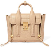 3.1 Phillip Lim Pashli Mini Textured-leather Shoulder Bag - Beige