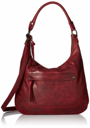 Frye Melissa Zip Leather Hobo Handbag