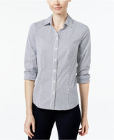 Charter Club Petite Striped Shirt, Only at Macy's