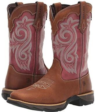 Durango Lady Rebel 10 Western (Briar Brown/Rusty Red) Cowboy Boots