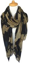 GERINLY Scarves - Womens Holiday Scarf Camouflage Print Shawl Wrap