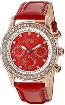 August Steiner Women's ASA818R Swiss Quartz Multi-Function Dazzling Fashion Watch