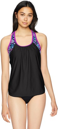 ZeroXposur Women's Plus Size Links Action 2For Tankini Top