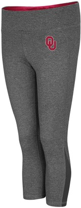 Colosseum Women's Charcoal Oklahoma Sooners High Jump Herringbone Capri Pants