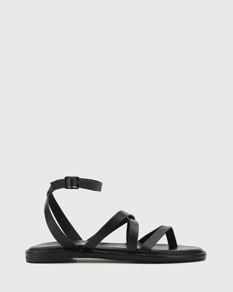 Wittner - Women's Black Sandals - Cavani Leather Flat Sandals - Size One Size, 35 at The Iconic