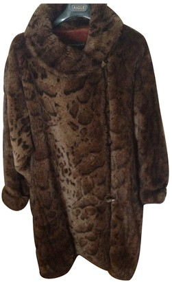 Ramosport Brown Faux fur Coat for Women