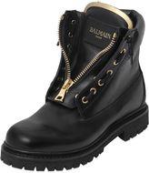 Balmain 20mm Taiga Leather Boots