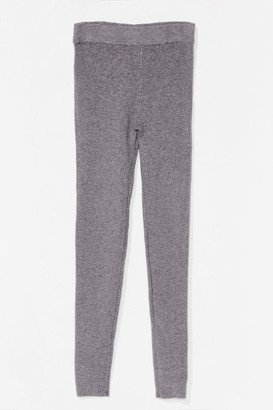 Nasty Gal Womens Time for You Knitted Lounge Leggings - Grey