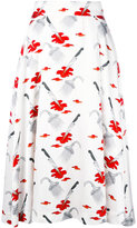 Olympia Le-Tan printed skirt - women - viscose - 36