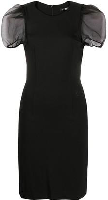 Karl Lagerfeld Paris Organza Sleeve Dress