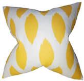 """The Pillow Collection Juliaca Ikat Pillow Yellow 18""""x18"""""""