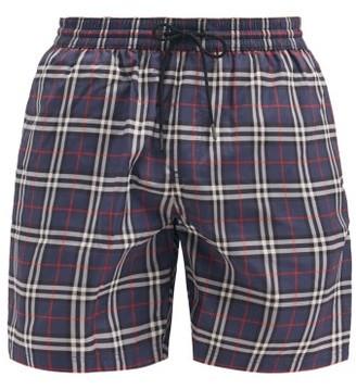 Burberry Guildes House-check Swim Shorts - Blue Multi