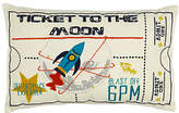 Christy Ticket To The Moon Embroidered Cushion