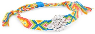 Fallon Embellished Woven Multicolor Friendship Bracelet