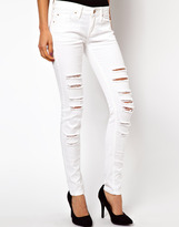 MANGO Ripped Skinny Jean