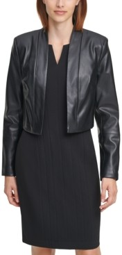 Calvin Klein Faux Leather Shrug