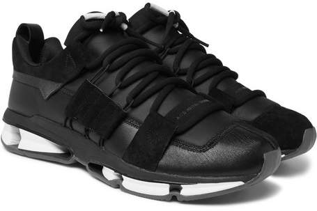 adidas Twinstrike ADV Leather and Suede Sneakers - Men - Black