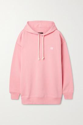 Acne Studios Appliqued Cotton-jersey Hoodie - Blush