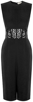 Alexander McQueen Sleeveless Lace Corset Dress
