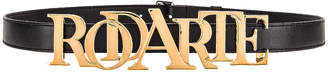 Rodarte Buckle Belt in Gold & Black | FWRD