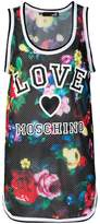 Love Moschino logo floral vest top
