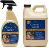 Granite Gold Daily Cleaner Value Pack daily granite cleaner, streak-free formula for stone countertops, marble, quartz, and tile 24 oz. spray & 64 oz. refill