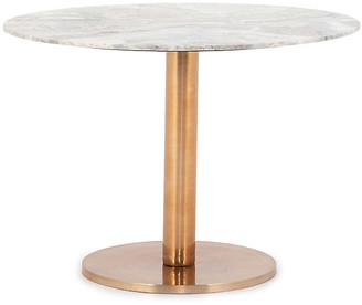 "One Kings Lane Justine 42""Dia Marble Dining Table - Rose Brass"