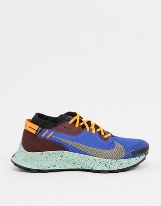 Nike Running Air Zoom Pegasus Trail trainers in burgundy
