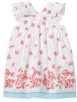 Janie and Jack Baby's, Little Girl's & Girl's Floral Boarder Dress