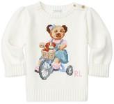 Ralph Lauren Infant Girls' Bear Intarsia Sweater - Sizes 3-24 Months