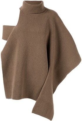 Ports 1961 Ribbed Roll Neck Knitted Top