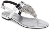 Calvin Klein Women's Evonie Metal-Fringed V-Strap Sandal