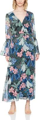 Tommy Jeans Women's Wrap Maxi 3/4 Sleeve Dress