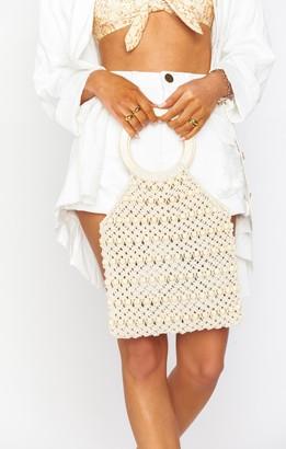 Show Me Your Mumu Jace Beaded Knit Bag