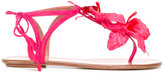 Aquazzura 'Flora' flat sandals - women - Leather/Suede/PVC - 38