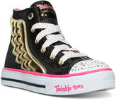 Skechers Little Girls' Twinkle Toes: Shuffles - Flutter Up Light-Up Casual Sneakers from Finish Line