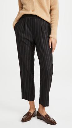 Vince Flannel Stripe Pull On Pants