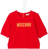 Moschino Kids embroidered logo top
