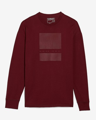 Express Faded Cube Long Sleeve Graphic T-Shirt