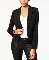 Amy Byer Juniors' Lace-Back Peplum Blazer