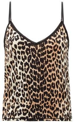 Ganni Leopard-print Stretch-jersey Cami Top - Leopard