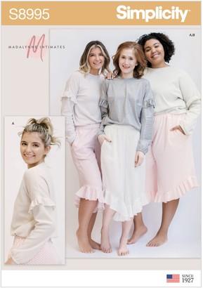 Simplicity Madalynne Intimates Loungewear Sewing Pattern, 8995, A